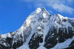 Snow covered mountains - Santa Cruz Trek - Huascaran National Pa Stock Photo