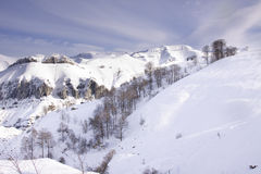 Snow covered mountains (Spain) Stock Image