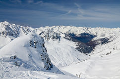 Snow-covered mountains in the spring Pyrenees Royalty Free Stock Photography