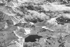 Aerial view of the Swiss Alps from plane Royalty Free Stock Images