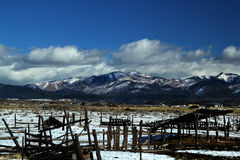 Snow Covered Mountains of Utah Royalty Free Stock Photo
