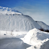 Snow-covered mountains in winte Stock Photo
