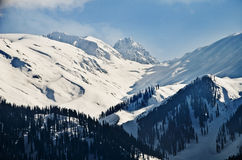 Snow covered mountains in winter, Gulmarg, Jammu And Kashmir, India Royalty Free Stock Image