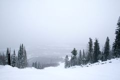 Snow covered mountainside Royalty Free Stock Image