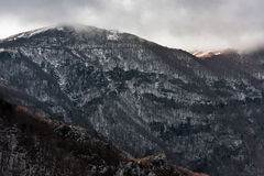 Snow covered mountainside Royalty Free Stock Images