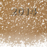 Snow-covered Paper numbers of new 2014 Stock Photos