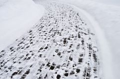 Snow covered pavement background Royalty Free Stock Photo