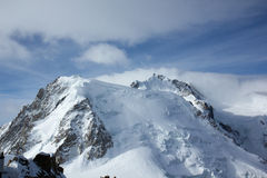 Free Snow-covered Peak Of Mont Blanc From The Observation Deck Aiguille Du Midi, Chamonix, France Stock Photography - 77864902