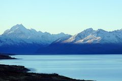 Snow covered peaks of Mount Cook, New Zealand Stock Image