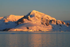 Antarctic Sunset Stock Image