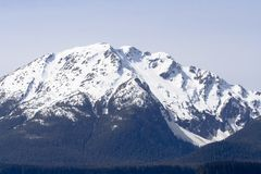 Snow Covered Peaks near Juneau Royalty Free Stock Image