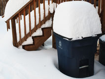 Snow covered recycle bin Royalty Free Stock Photo
