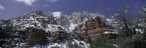 Snow covered red rocks, Sedona, AZ Stock Image