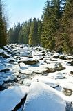 Snow covered river Stock Photo