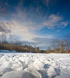 Snow covered river Royalty Free Stock Photography
