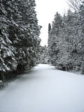 Snow covered Road Royalty Free Stock Photos