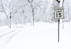 Free Snow Covered Road Royalty Free Stock Photos - 23547338