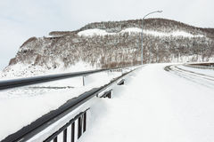 Snow covered road Stock Photo