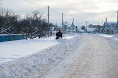 Snow covered road Stock Image
