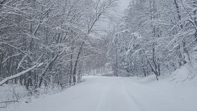 Snow covered road Stock Photography