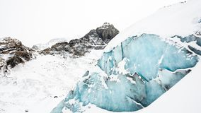 Snow Covered Rocky Mountain at Daytime Royalty Free Stock Photography