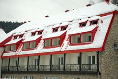 Snow-covered roof Royalty Free Stock Image