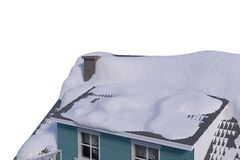 Snow covered roof of house Royalty Free Stock Image