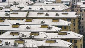 Snow covered roof Royalty Free Stock Photography