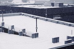 Snow Falling Roof Stock Images Download 698 Royalty Free