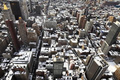 Snow-covered roofs in New York Royalty Free Stock Photography