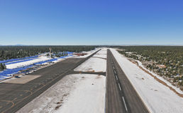 Snow covered runway Stock Photography