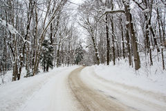 Snow Covered Rural Road Royalty Free Stock Photo