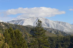 Snow Covered San Bernardino Mountains. Crisp Snow Covered San Bernardino Mountains Royalty Free Stock Images