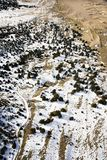 Snow covered sandy plains, Colorado. Stock Photos