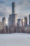 Snow-covered Sheep Meadow - Central Park Royalty Free Stock Image