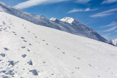 Snow covered slopes in the Tatras Royalty Free Stock Photo
