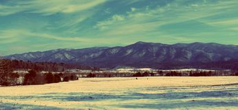 Snow Covered Smokey Mountains Stock Photos