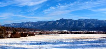 Snow Covered Smokey Mountains Stock Photo