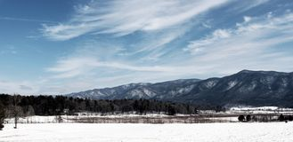 Snow Covered Smokey Mountains Royalty Free Stock Image