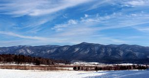 Snow Covered Smokey Mountains Royalty Free Stock Photography