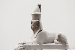 Snow-covered sphynx Royalty Free Stock Images