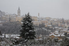 Snow covered Spoleto Royalty Free Stock Image