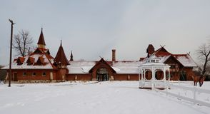 Snow Covered Stables Royalty Free Stock Photo