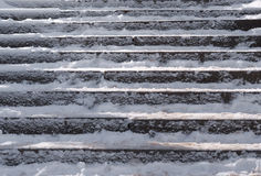 Snow Covered Stair Case Composition Royalty Free Stock Photo