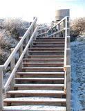 Snow covered steps Stock Photo