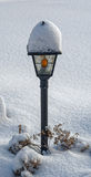 Snow Covered Street Lamp Royalty Free Stock Photos