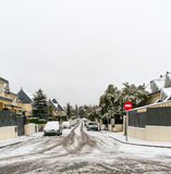 Snow-covered street Stock Image