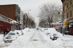 Snow Covered Streets Stock Photo