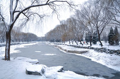 The snow covered with Summer Palace Royalty Free Stock Photos