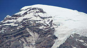 Snow covered summit of Mount Rainier. Royalty Free Stock Photography